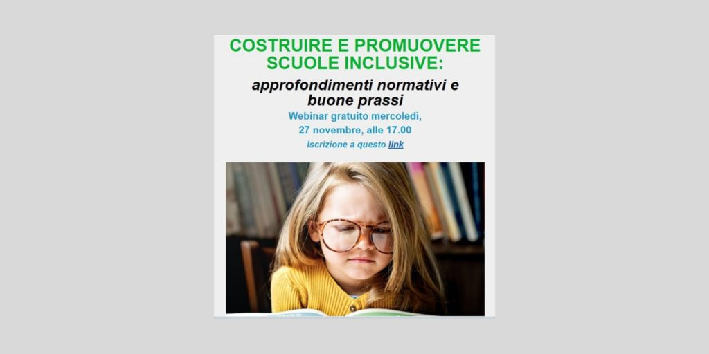 27 novembre: AIPD realizza un webinar con TuttoScuola.com sull'inclusione scolastica